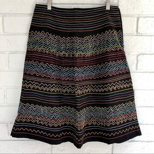 Multi-Color Embroidered Skirt